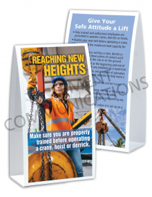 Cranes, Hoists and Derricks – Heights – Table Top Tent Cards