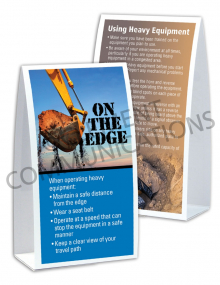 Heavy Equipment – On the Edge – Table Top Tent Cards