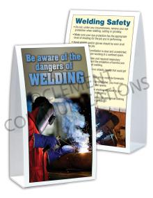 Welding – Dangers of Welding - Table-top Tent Cards