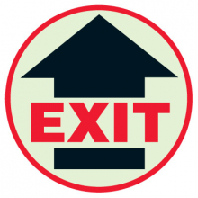 Floor Safety Signs - Glow in the Dark Exit