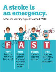 A Stroke is an Emergency Poster