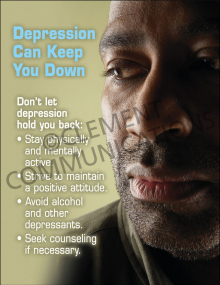 Depression can Keep You Down Poster