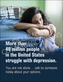 Struggle With Depression Poster