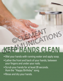 Keep Hands Clean Poster