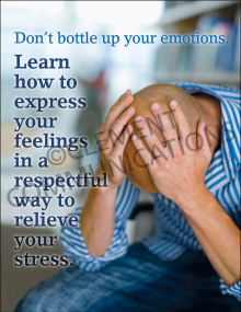 Don't Bottle Up Your Emotions Poster