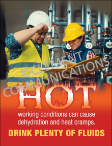 Hot Working Condition Poster