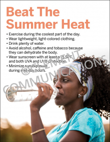Beat the Summer Heat Poster