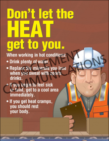 Don't Let the Heat Get to You Poster