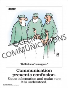 Communication - Communication Prevents Confusion - Poster