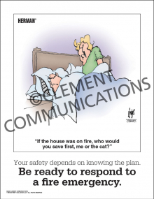 Fire Safety - Be Ready to Respond - Poster