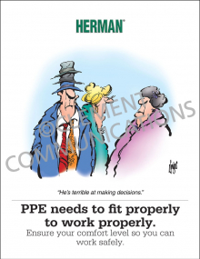 PPE - Fit Properly Poster