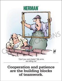 Cooperation And Patience Poster