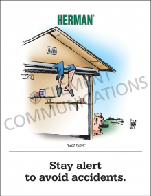 Stay Alert-Avoid Accidents Poster