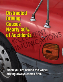 Distracted Driving Causes Nearly 40% of Accidents Poster