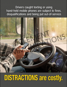 Distractions Are Costly Poster