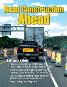 Road Construction Ahead Poster