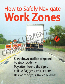 How To Safely Navigate Work Zones Poster
