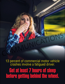 Fatigued Driving Poster