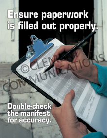 Ensure Paperwork Is Filled Out Properly Poster