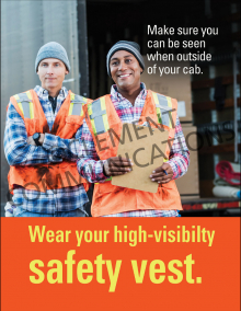 Wear Your High-Visibility Safety Vest Poster