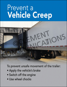 Prevent A Vehicle Creep Poster
