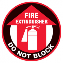 Floor Safety Signs - Fire Extinguisher Do Not Block