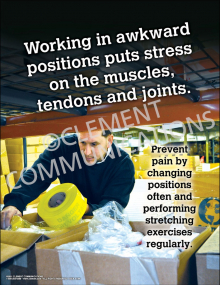 Ergonomics - Working In Awkward Positions Poster