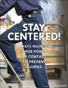 Ergonomics- Stay Centered Poster