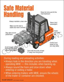 Safe Material Handling Poster