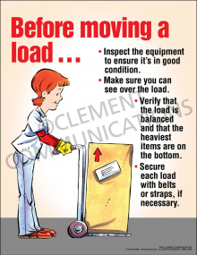 Before Moving a Load Poster