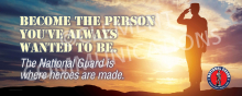 Become The Person - Military Banner