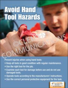Hand Tool Hazards Poster