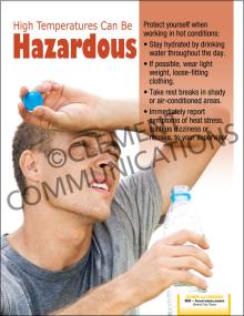 High Temperatures Can Be Hazardous Poster