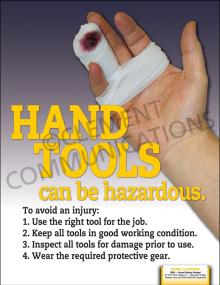 Hand Tools-Hazardous Poster