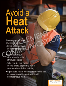 Avoid A Heat Attack Poster