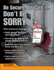 Be Safe, Be Secure ... Don't Be Sorry Poster