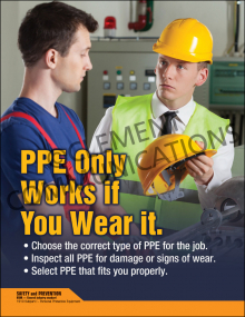 PPE Only Works If You Wear It Poster