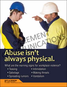 Abuse Isn't Always Physical Poster