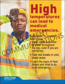 High Temperatures Can Lead To Medical Emergencies Poster
