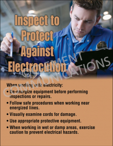 Inspect to Protect Against Electrocutions Poster