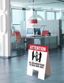 Deliveries Indoor Floor Signs