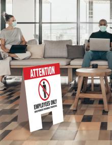 Employees Only Indoor Floor Sign