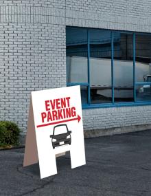 Event Parking Indoor Floor Signs