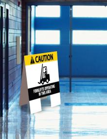 CAUTION Forklift Indoor Floor Sign