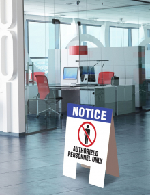 Personnel Only Indoor Floor Sign
