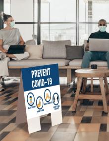 Prevent COVID Indoor Floor Sign