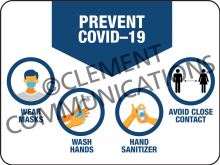 Prevent COVID-19 - Indoor Sign