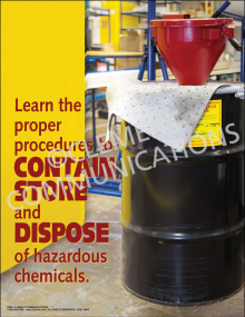 Chemical Safety - Contain, Store and Dispose Poster