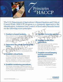 7 Principles of HACCP Poster - Laminated