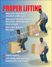Proper Lifting Poster - Laminated